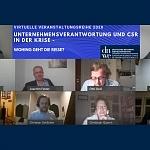 Nachbericht Webcast 3: Unternehmensverantwortung und CSR in der Krise – Wohin geht die Reise?